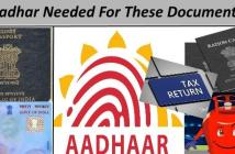 list of work not possible with out aadhar card