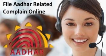 file aadhar complain online