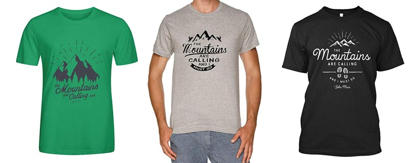 camisetas montaña senderismo regalos