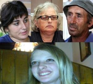 Sabrina, Cosima e Michele Misseri. Sotto Sarah Scazzi
