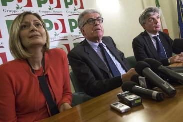 Conferenza stampa PD dopo incontro con M5S