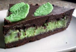 foto ricetta crostata cioccolato e menta