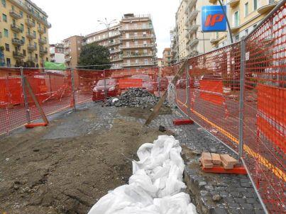 Cantieri a Piazza Leonardo