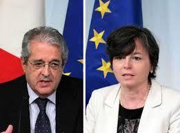 Ministro dell'Economia Saccomanni e Ministro dell'Istruzione Carrozza