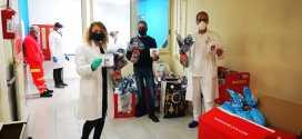 Solidarietà e Coronavirus: mascherine, giocattoli e uova di cioccolato consegnate al Santobono Pausilipon