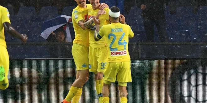 """Sampdoria-Napoli 0-2: Milik e Albiol """"rispondono"""" ai cori razzisti del Ferraris"""
