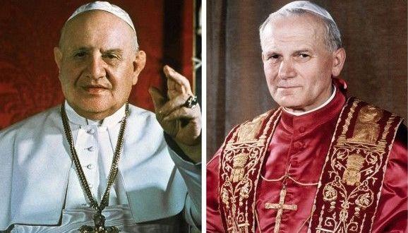 Papa Giovanni XXIII e Papa Giovanni Paolo II sono santi