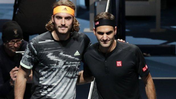 ATP Tour. Stefanos Tsitsipas è il maestro tra i maestri. Il giovane & il vecio, Tsitsipes & Federer