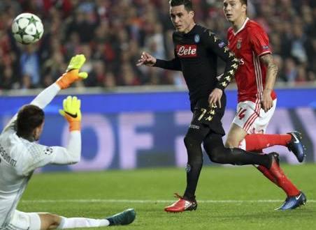 Il Napoli sbanca il Da Luz, e vola agli ottavi di Champions