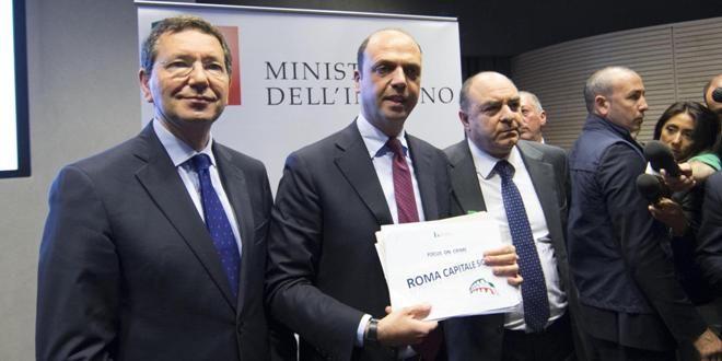 """Alfano vara il Piano Roma Sicura, """"un esempio per le altre città"""""""