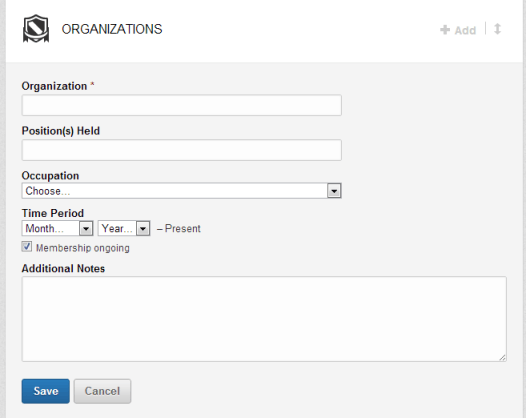 Adding an Organization to your new LinkedIn Profile