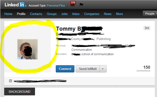 This LinkedIn Profile Picture is too small.