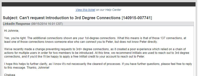 LinkedIn Removes Introduction Requests To 3rd Degree