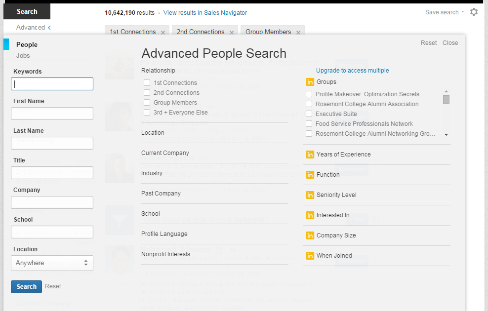 Tips to a More Effective LinkedIn Search
