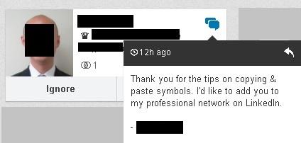 LinkedIn Pending invitation