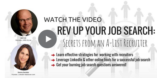 Watch the Webiner: Rev Up Your Job Search