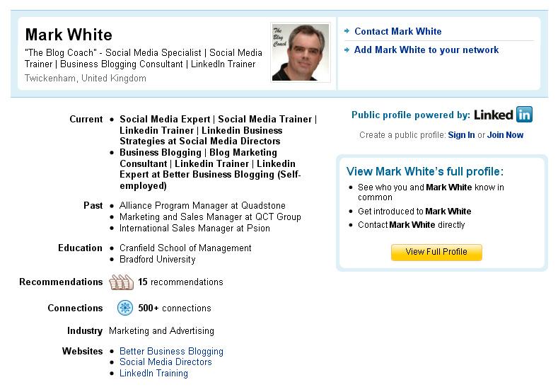 linkedin public profile two