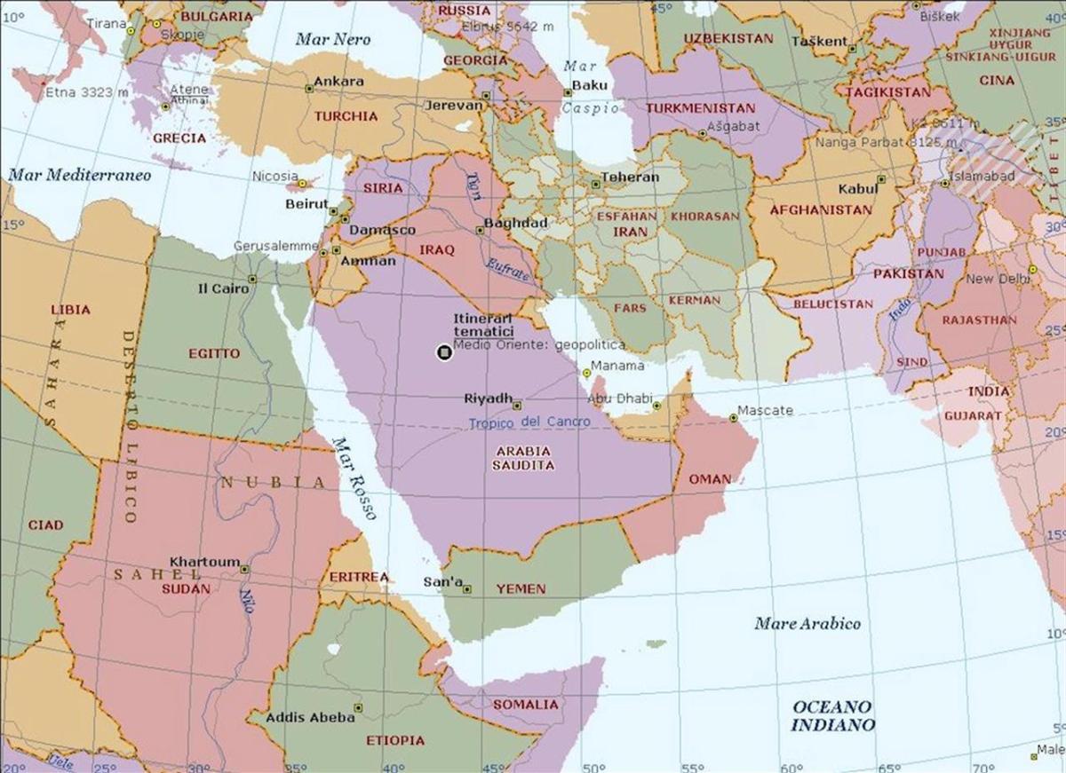 Cartina Fisica Del Libano.L Unica Mappa Che Spiega Le Relazioni Nel Medioriente Linkiesta It