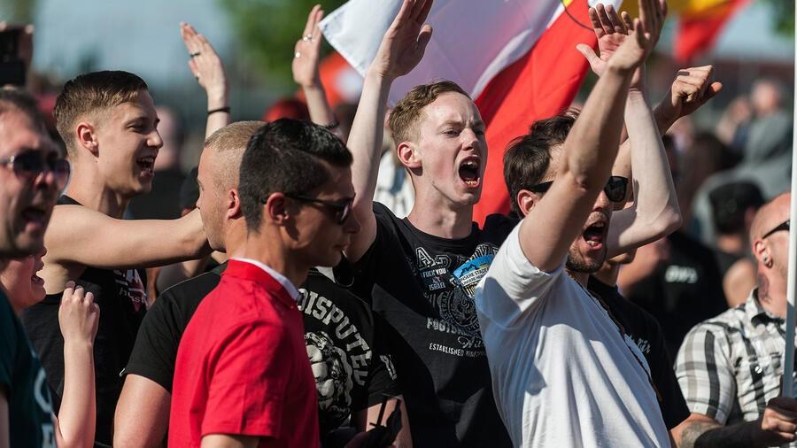 Una manifestazion contro il razzismo a Berlino