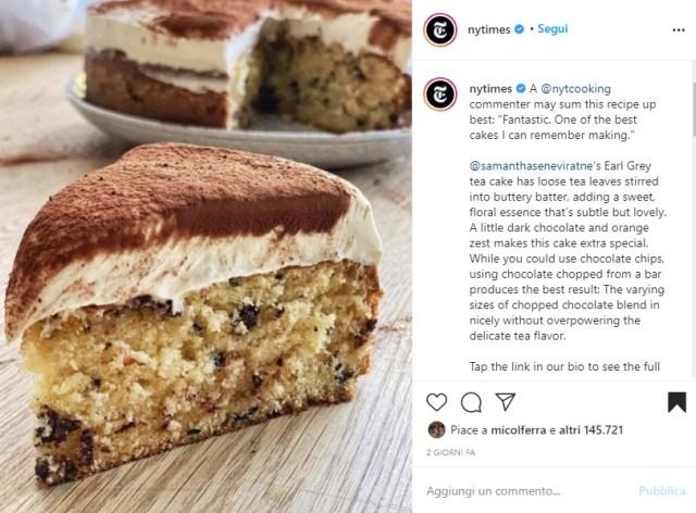 Earl Grey tea cake: il dolce che ha fatto impazzire una fetta di web