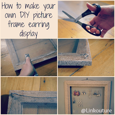 how to make an upcycled earring display