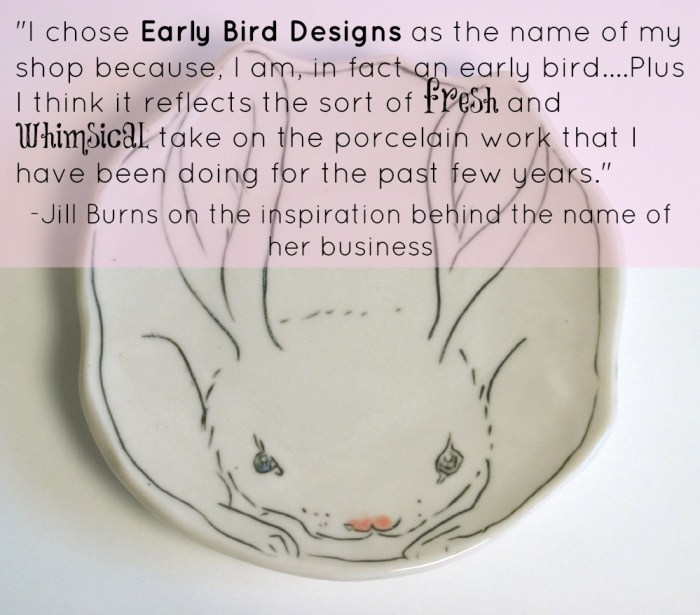 bunny dish with quote