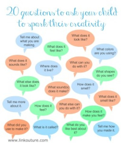 20 questions to ask your child to spark their creativity www.linkouture.com