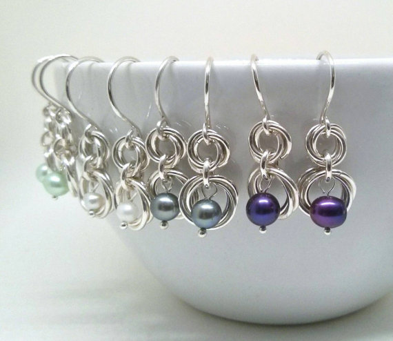 Linkouture sterling silver and freswater pearl earrings