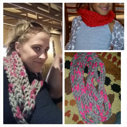 DIY knit scarf by www.sequinsinthesouth.com