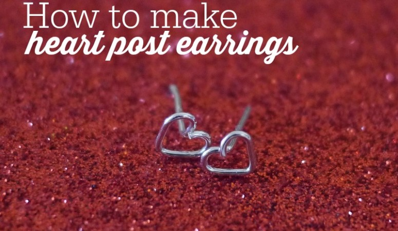 {DIY} How to make tiny heart post earrings