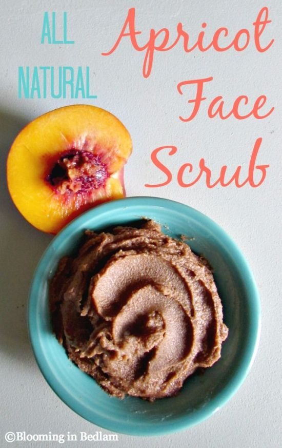Apricot face scrub DIY by Blooming in Bedlam