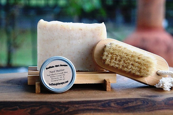 Gardening soap gift set by Buffalo Girls Soap