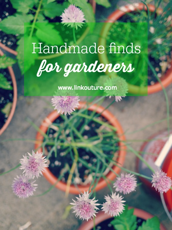 This collection of handmade finds features goodies on Etsy for gardeners, including some beautiful gift ideas for Mother's Day!