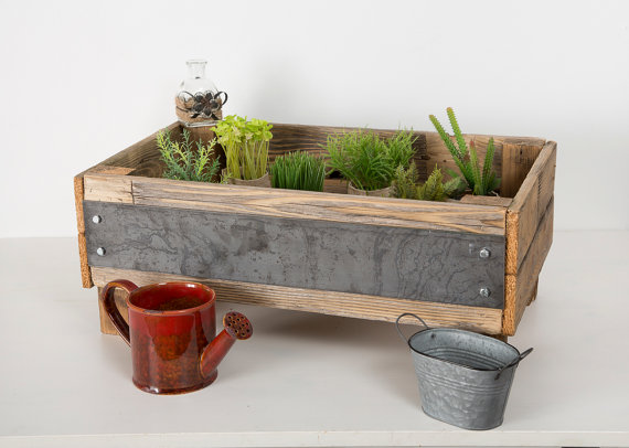 Industrial elevated gardening bed by Del Hutson Designs