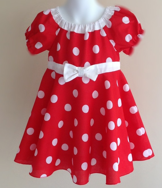Red polkadot baby dress by Two Black Rabbits