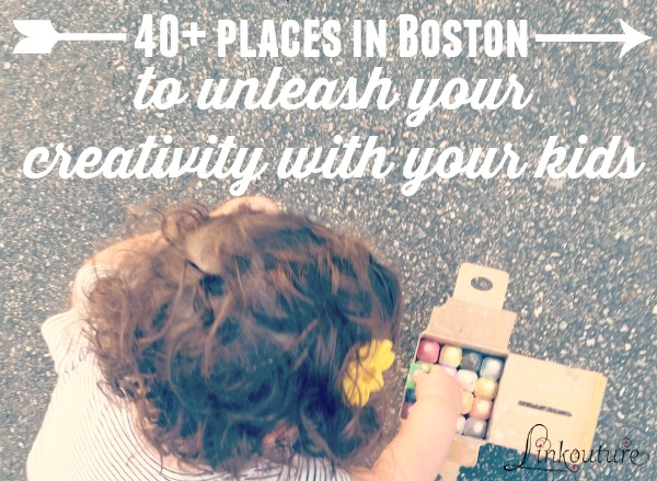Unleash your creativity and have a blast exploring, learning and making with your children! Here are over 40 places kids and grownups can get creative together in the Boston area, from drop-in studio spaces to music and movement classes. What creative thing will you do with your child?