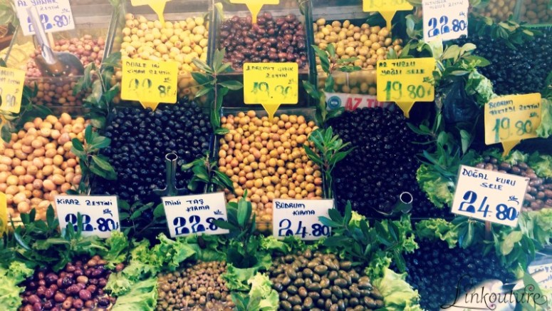 Olives in Asian side of Istanbul, Turkey
