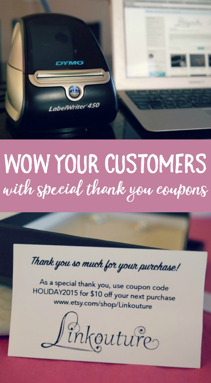 Wow your customers and create beautiful thank you coupons with ease with this DIY tutorial using your DYMO LabelWriter®. #ad