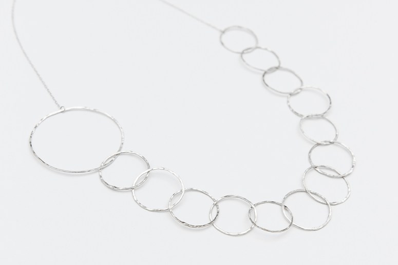 Linkouture sterling silver statement necklace