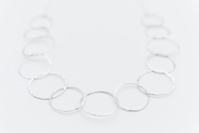 Linkouture hammered sterling silver necklace