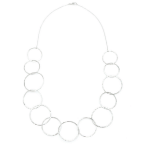 delicate hammered hoop necklace