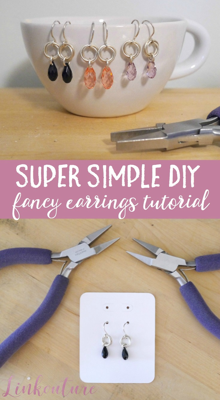 Learn how to make your own super simple DIY fancy earrings in under 10 minutes!