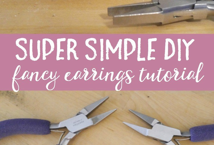 Super simple DIY fancy earrings you can make in under 10 minutes