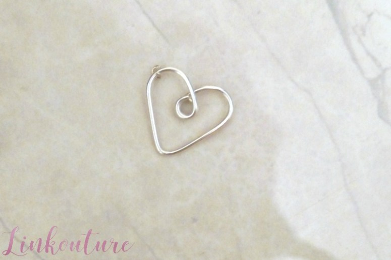 Create your own necklace featuring a handmade heart charm
