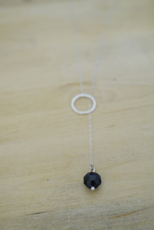Make your own chain lariat necklace