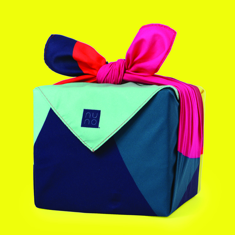 Looking for new ideas for sustainable living during the holidays? Try reusable gift wrapping! Nuno Gift Wrap creates gorgeous and colorful sustainable gift wraps inspired by the Japanese art of furoshiki, or wrapping gifts in fabric.
