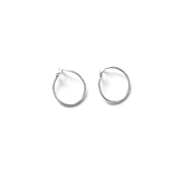 simple small silver hoop