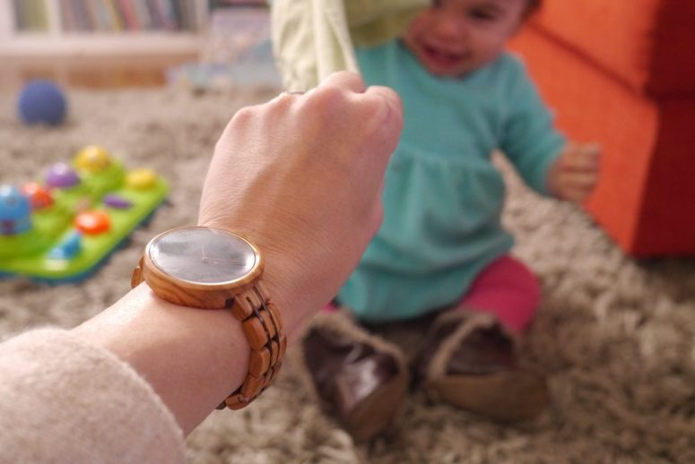 Playtime with durable JORD watch