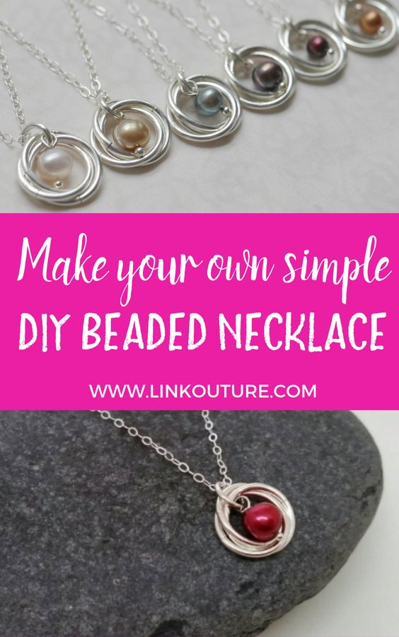 Learn how to make your very own pearl and spiral pendant necklace with this easy diy jewelry tutorial. These necklaces are very delicate and feminine and make for the perfect wedding jewelry or gift idea. This free step by step tutorial is great for advanced beginners! #linkouture #DIY #jewelrymaking #tutorials