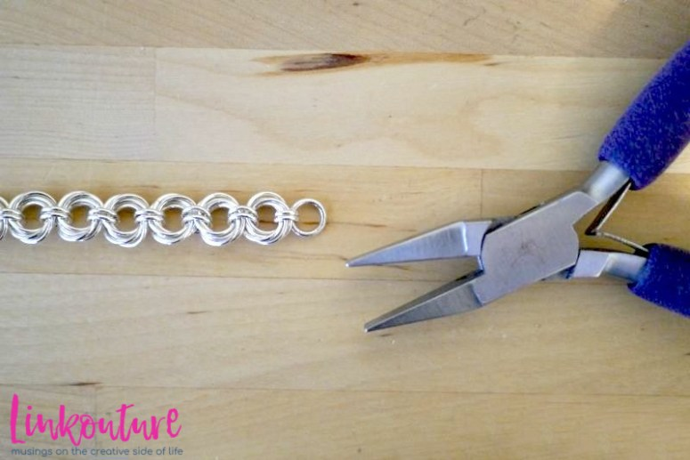 pliers with silver chain bracelet
